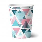 Набор бумажных стаканов Геометрия 6 шт*250 мл
