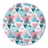 Набор бумажных тарелок Геометрия, 6 шт d=180 мм