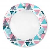Набор бумажных тарелок Геометрия, 6 шт d=230 мм