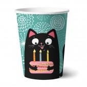Набор бумажных стаканов Кошки, 6 шт*250 мл