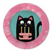 Набор бумажных тарелок Кошки, 6 шт d=180 мм