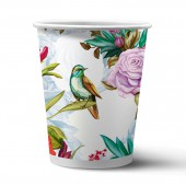 Набор бумажных стаканов Птицы и цветы, 6 шт*250 мл