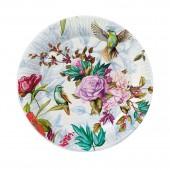 Набор бумажных тарелок Птицы и цветы, 6 шт d=180 мм