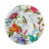 Набор бумажных тарелок Птицы и цветы, 6 шт d=230 мм