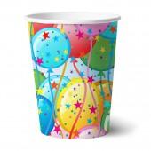 Набор бумажных стаканов Шары, 6 шт*250 мл