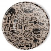 Набор бумажных тарелок Крафт, 6 шт d=180 мм