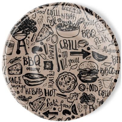 Набор бумажных тарелок Крафт, 6 шт d=230 мм