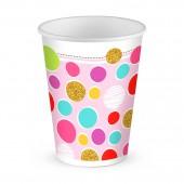 Набор бумажных стаканов Тортик, 6 шт*250 мл