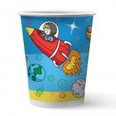 Набор бумажных стаканов Космонавты, 6 шт*250 мл