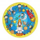Набор бумажных тарелок Космонавты, 6 шт d=180 мм