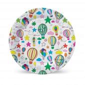 Набор бумажных тарелок Шарики с обводкой, 6 шт d=180 мм