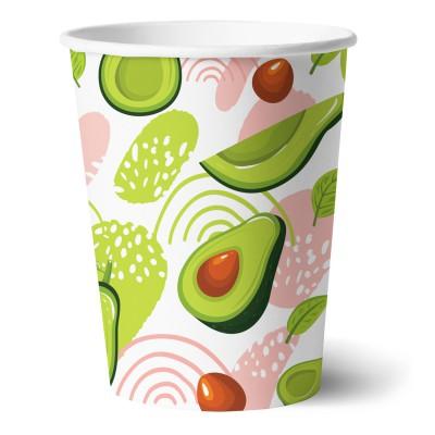 Набор бумажных стаканов Авокадо-1, 6 шт*250 мл