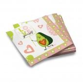 Салфетки бумажные трехслойные Авокадо-1 33*33 см, 20 шт