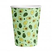 Набор бумажных стаканов Авокадо-2, 6 шт*250 мл