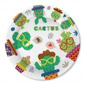 Набор бумажных тарелок Кактус-1, 6 шт d=230 мм