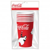 Coca-Cola. Набор бумажных стаканов Мишки-1, 6 шт*330 мл