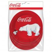 Coca-Cola. Набор бумажных тарелок Мишки-1, 6 шт d=230 мм