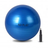 Фитбол c насосом, диаметр:75см., цвет синий