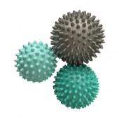 Набор массажных мячей 3 шт., размер:  9 см., 7,5 см., 6,5 см.