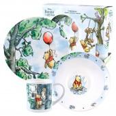 """Набор посуды в подарочной упаковке """"Винни-Пух"""", На воздушном шаре, 3 предмета, фарфор"""