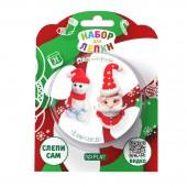 """Набор для лепки """"Дед мороз и снеговик"""""""