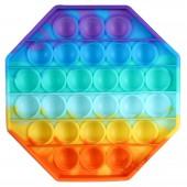POP It Fidget. Радужный восьмиугольник