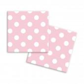 Салфетки бумажные трехслойные Горох 33*33 см, 20 шт