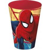 Стакан пластиковый (430 мл). Человек-паук Красная паутина