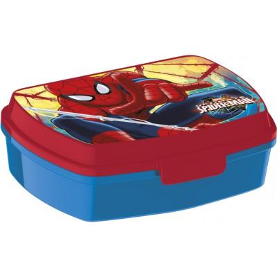 Ланч-бокс пластиковый (17х14х5,6). Человек-паук Красная паутина