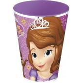 Стакан пластиковый (430 мл). Принцесса София фиолет.