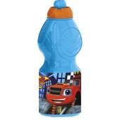 Бутылка пластиковая (спортивная, фигурная, 400 мл). Вспыш и чудо-машинки