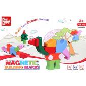 Магнитные блоки 3D паззл 48 деталей (упаковка 23*35 см)