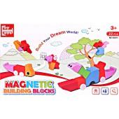 Магнитные блоки 3D паззл 22 детали (упаковка 40*25 см)