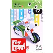 """Пластиковый конструктор 17 деталей """"Мотоцикл"""" (упаковка 10*19 см)"""