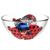 "Салатник ""Леди Баг и Супер Кот"" Дизайн 1 (мал.), 12,5 см, стекло"
