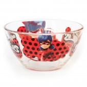 "Салатник ""Леди Баг и Супер Кот"" Дизайн 2, 12,5 см, стекло"