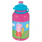 Бутылка пластиковая (спортивная, 400 мл). Свинка Пеппа