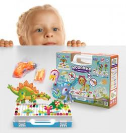 Полезный конструктор для малышей: мозаика в чемоданчике