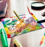 Как выбрать первую детскую раскраску и научить малыша чистить зубы