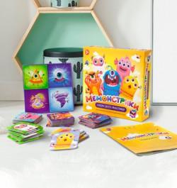 «Мемонстрики»: развивающая настольная игра для детей 3 лет
