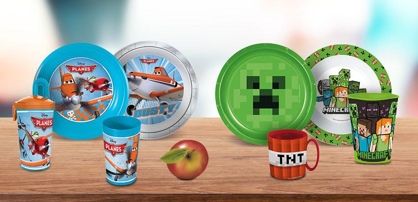 Пластиковая посуда Майнкрафт и Самолеты