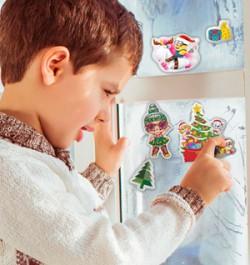 Новогодние наклейки с дизайнами  «Щенячий патруль», «Миньоны» и «L.O.L. Surprise!»