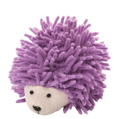Игрушка мягкая (Ganley The Hedgehog Screen Cleaner, Ежик, фиолетовый, 6,5 см). Gund