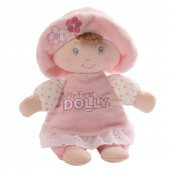 Игрушка мягкая (My First Dolly Small Brunette Rattle, 18 см). Gund