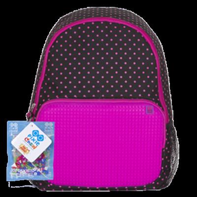 Рюкзак Pixie черно-розовый, городской