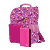Рюкзак Pixie розовый, детский с органайзером