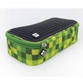 Пенал Pixie зелено-черный, большой школьный