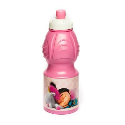 Бутылка пластиковая (спортивная, фигурная, 400 мл). Флуффи