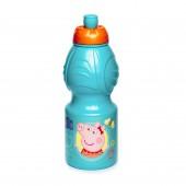 Бутылка пластиковая (спортивная, фигурная, 400 мл). Свинка Пеппа