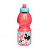 Бутылка пластиковая (спортивная, фигурная, 400 мл). Минни Маус Цветы